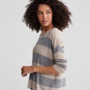 Eileen Fisher Tencel Merino Rib Stripe Sweater PL